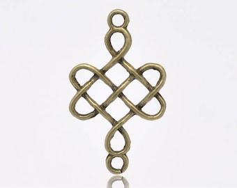 set of 5 charms/pendants knot Celtic 31X18mm