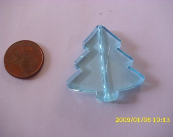 1 Pearl Christmas tree Christmas 3.9X4.1cm 1.9 hole turquoise mm