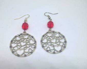 Earrings hearts...