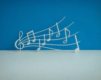 Cut paper white coloring design music key you even for creation