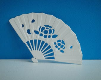 Cut paper white coloring design fan you scrapbooking and card