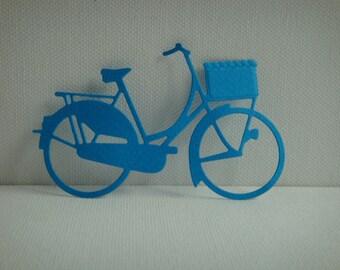 Tagliare la Citybike nel disegno blu scuro per carta scrapbooking e carta