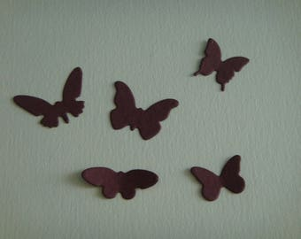 Set of 5 currant for scrapbooking and card butterflies