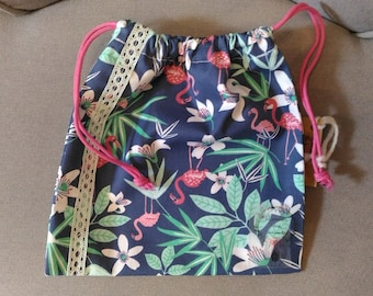 double tropical DrawString pouch