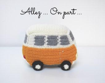 VW Combi crochet hand-made in acrylic yarn