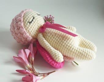 Amigurumi toy beetle crocheted