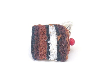 charm's - part polymerclay chocolate Black Forest cake