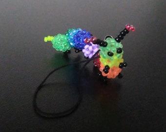 Cute portable multicolor centipede, bag charm