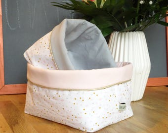 Set of two fabric storage baskets / storage pouch / decor baby room