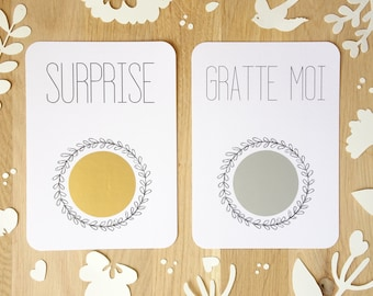 Customizable scratch card / For happy events / Pregnancy announcement / Wedding announcement / marriage proposal / Pacs / Good for