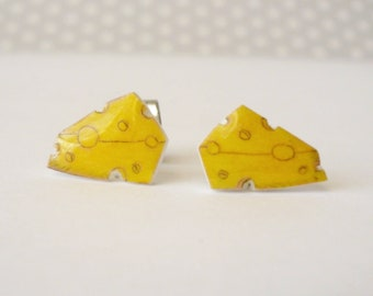 Swiss cheese earrings
