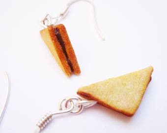 Nutella toast earrings