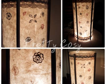 Paper floral glass lamp Japanese style