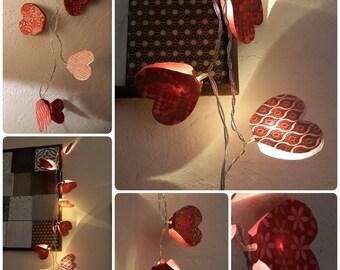 Bright hearts paper Garland
