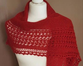 Hand - Hand-knitted shawl Henslowe knitted shawl