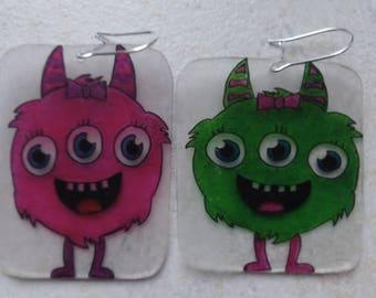 Nice earrings monsters