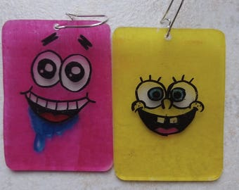 Sponge bob earrings