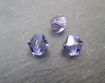 10 perles à facettes rondes aplaties bleu lagon cristal de Chine 8 x 6 mm