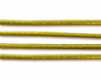 2 m elastic yarn wrapped 1 mm lime green