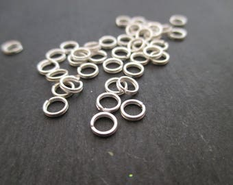 Double 4 x 0.5 mm rings in Silver 925 * 8 mm