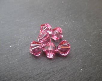 Bicone 8 mm: 1 Swarovski Crystal Pearl Rose