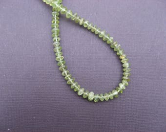 Peridot: 10 beads 6 mm round disc