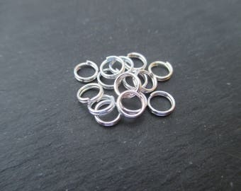 Double rings 5 mm * 0.6 mm Silver - set of 30