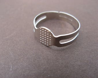 supports 3 ring adjustable 18 mm silver-plated for polymer clay.