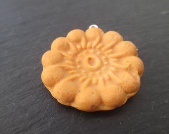 1 pendant biscuit porcelain cold 3.8 cm