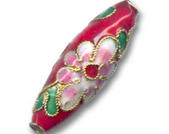 Olives partitioned 27 x 9 mm red * 2