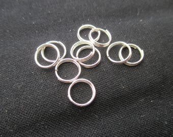 Double rings 8 mm * 0.6 mm silver - Pack of 20