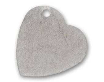 Heart 28 mm antique silver pendant
