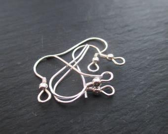 Earrings hooks; 2 silver hooks 925