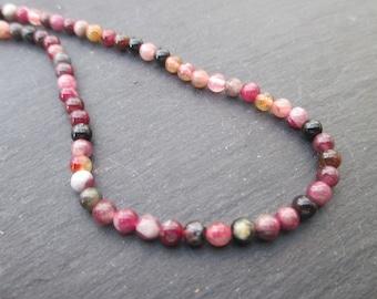 Tourmaline - 10 4 mm round beads-