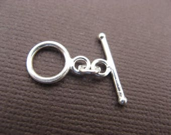 Toggle clasp 10 mm 925 Silver