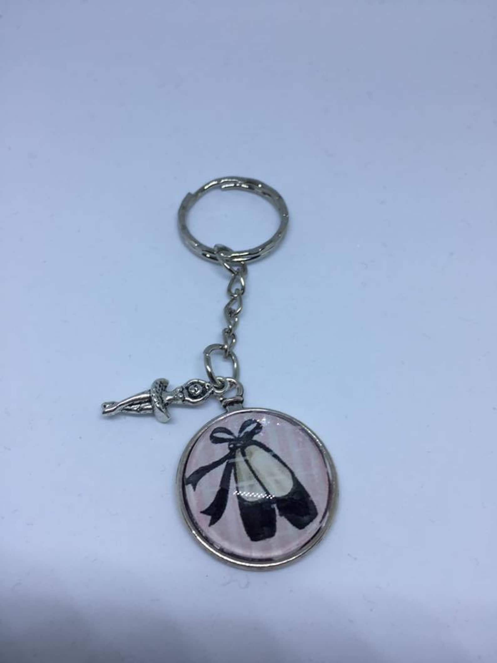 keychain cabochon glass metal free shipping