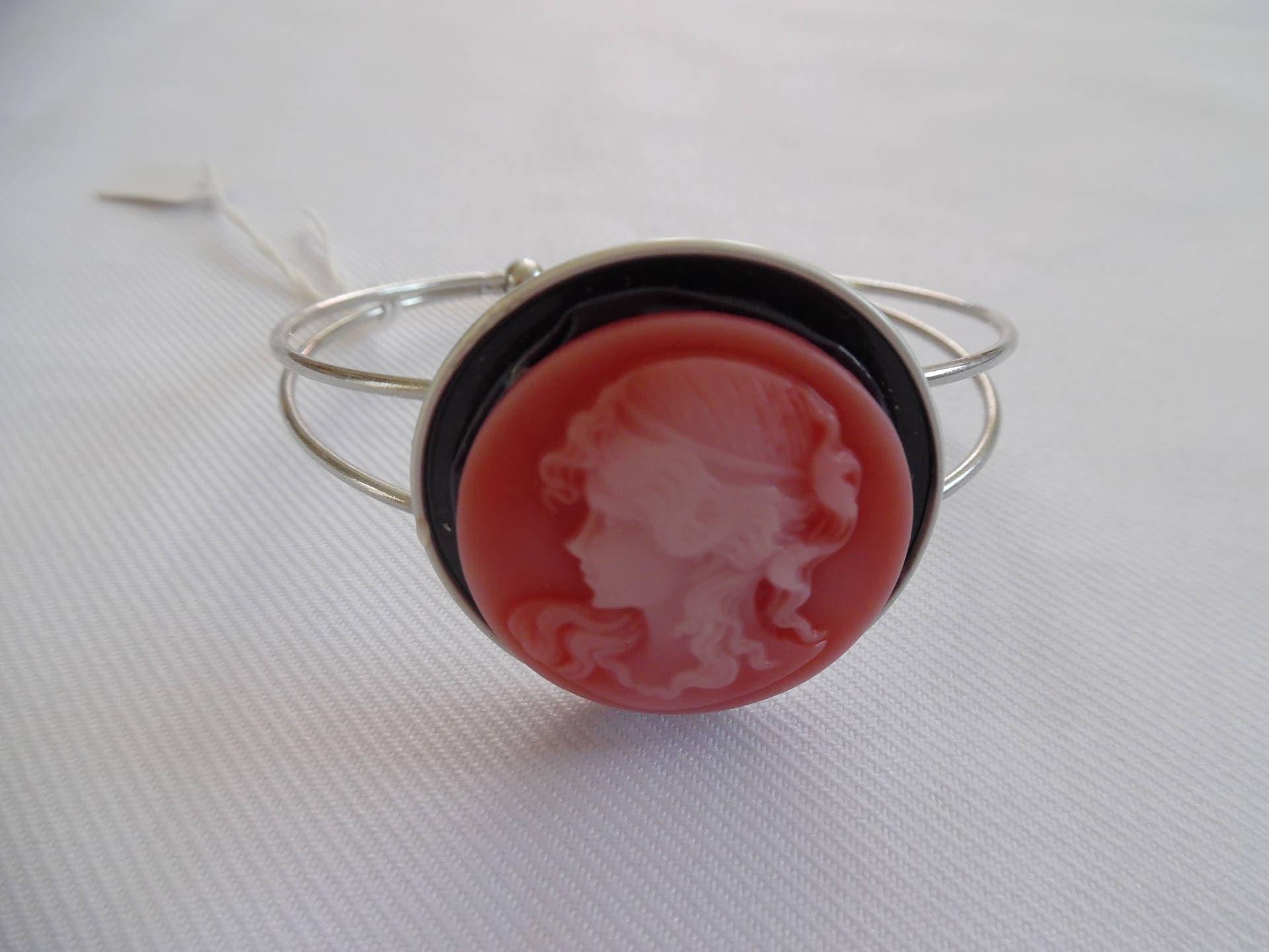 bracelet capsule nespresso fancy bracelet cameo red etsy. Black Bedroom Furniture Sets. Home Design Ideas