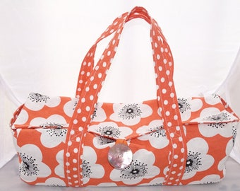 Gourmet cake orange fabric bag