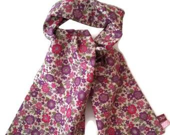 Foulard liberty, foulard léger, foulard japonais, petite étole, écharpe  rose, écharpe coton, style liberty, frou-frou c3574f4027d