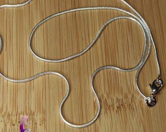 51cm silver plated snake chain necklace