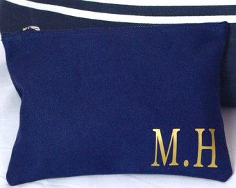 Makeup Bag | Navy Personalised Make Up/ Travel Bag | Makeup | Maggie Makes | Beach Bag | Travel Bag | Holiday Bag |
