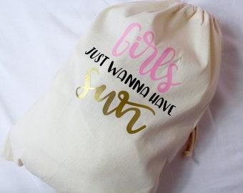 Travel Bag   Girls Just Wanna Have Sun   Shoe Bag   Maggie Makes   Beach Bag   Travel Bag   Holiday Bag  