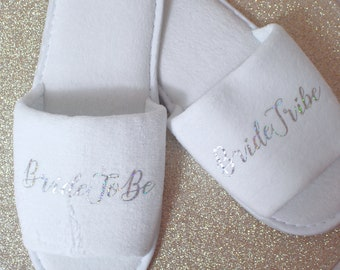 Wedding Slippers | Maggie Makes | Bride Tribe | Wedding | Bridal Party | Bridesmaid | Bride | Wedding Gift |