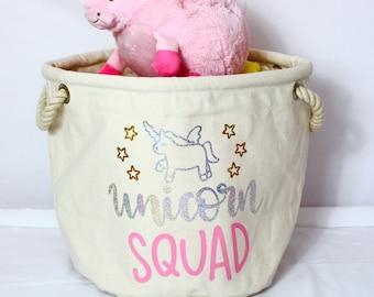 Unicorn Squad - Toy Bag | Kids Toy Tub | Children's Decor | Toys | Kids | Maggie Makes