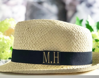 Personalised Straw Trilby Hat | Maggie Makes | Beach Hat | Trilby | Straw Hat | Personalised | Women's Fashion
