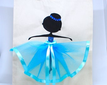 Personalised | Canvas Bag | Bag for Life | Cotton Bag | Ballerina | Ballet Dancer | Handmade | Maggie Makes | Gift |