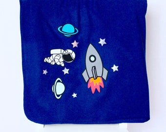 Spaceship/Rocket Ship - Blanket | Kids | Children's Decor | Space | Birthday Present | Birthday| Toys | Kids| Maggie Makes