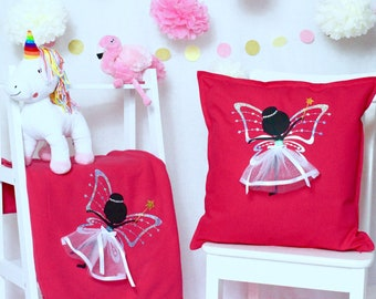 Fairy - Pillow & Blanket Set | Kids | Children's Decor | Sparkle | Birthday Present | Birthday| Toys | Kids | Girls| Maggie Makes