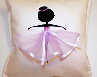 Purple | Ballerina | Cushion | Ballerina | Ballet Dancer | Decor Kids | Handmade Gifts | Ballet Dancer