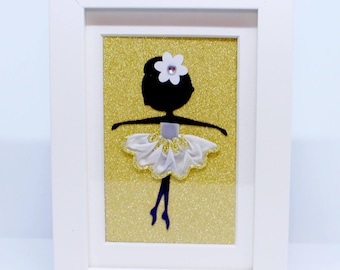 Ballerina | Small Frame | Shadow Box | Handmade | Maggie Makes | Frame | Picture | Gifts |